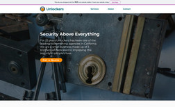 Unlockers A concept website for a small business of locksmit...