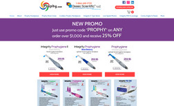 Prophy Ecommerce website featuring the originally invente...