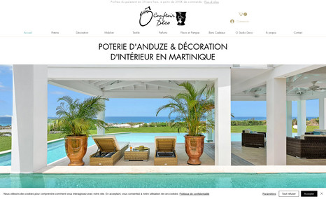 O Comptoir des Pots Site de vente en ligne avec intégration de WixStor...
