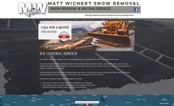 Matt Wichert Snow Removal Local snow removal and de-icing services.