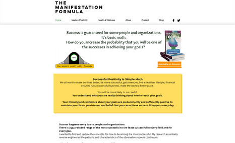 The Manifestation Formula Winebrenner Designs redesigned the website with a ...