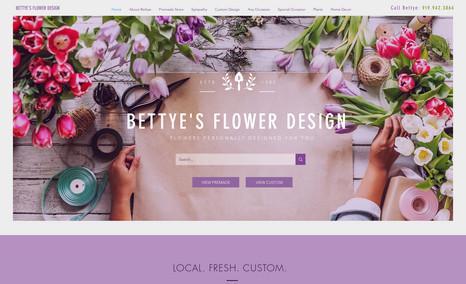Bettye's Flower Design Bettye was looking for a simple, yet modern websit...