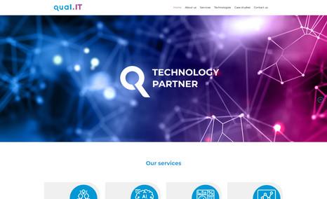 Qual.IT Desarrollo sitio Web Corporativo.