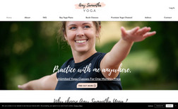 Amy Samantha Yoga A lovely new site for Yoga Instructor Amy so she c...