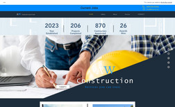Construction Template Designed as a construction website home page templ...