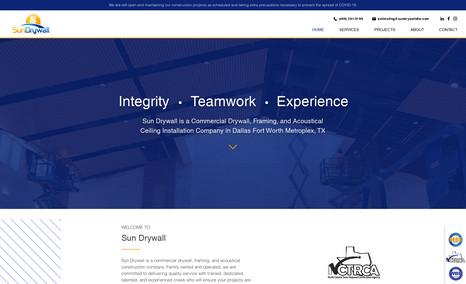 Sun Drywall Commercial Drywall Installation website