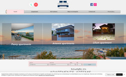 Artemis Apartments Website with online booking for apartments near se...