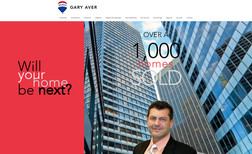 Gary Aver Realtor promotional site - design to get client to...