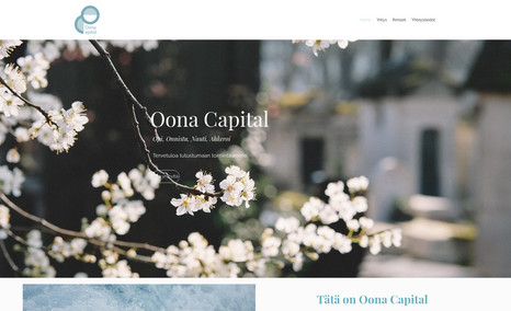 Oona Capital Logo, website and visual brand guide for a private...