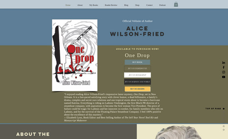 Alice Wilson-Fried Author of Mystery Novels: Outside Child, One Drop,...