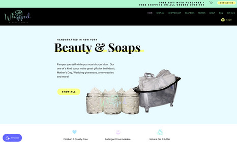 Artison Soap Website Custom Coded Product Reviews, Entire Brand Identit...