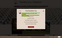 Tuchweberey Webseite für eine Weberei