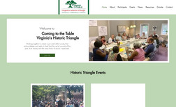 Coming To The Table, Historic Triangle Clean, Modern, and Professional site for local non...
