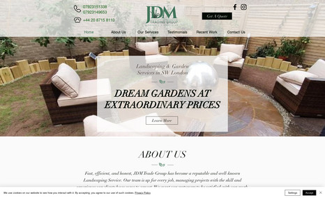 JDM Lanscaping Redesign + onsite SEO for landscaping services com...