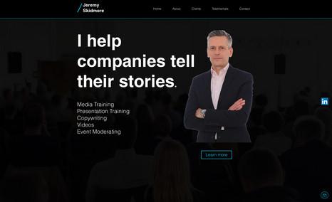 Jeremy Skidmore Total design and build of new website including Wi...