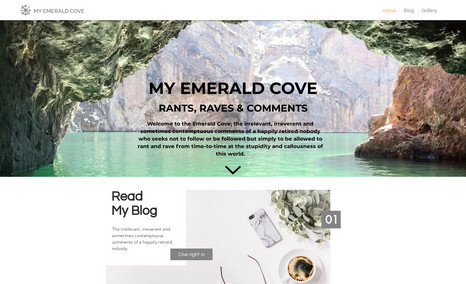 My Emerald Cove Contemporary personal blog and gallery.