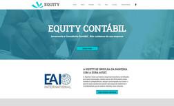 Equity Contábil Site institucional de escritório de contabilidade