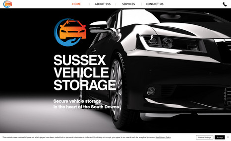 Sussex Vehicle Storage Simple one-page website design for vehicle storage...