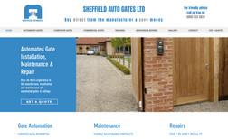 Sheffield Autogates Ltd A brochure style, mobile friendly, website created...