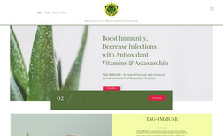 Aloe Geeks LLC A catchy e-commerce site for a supplement that is ...