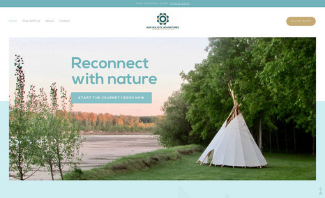 Aski Holistic Adventures I redesigned this website for a client in Saskatch...