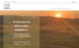 Pine Lake Pastures A long time client that needed a new website with ...