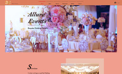 Allure Events Event planning website. Our client wanted a alluri...