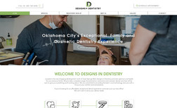 Designs In Dentistry OKC Full site design  Logo Design  Business Rebranding