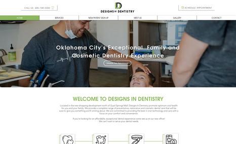 Designs In Dentistry OKC Full site design  Logo Design  Business Rebranding