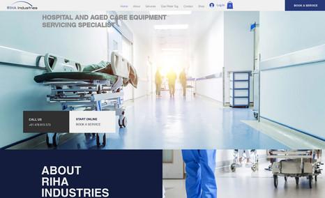 RIHA Hospital equipment service specialists.