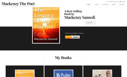 Mackenzy The Poet Clean, Professional Classic Website Design with Da...