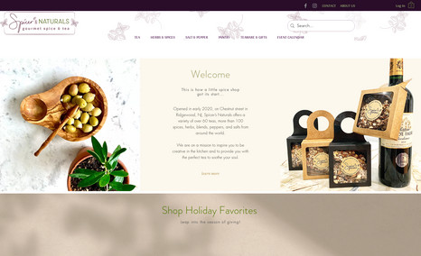 Spicer's Naturals Gourmet Spice & Tea An eCommerce website to promote the local spice sh...