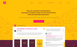 Commercial Class Platform for Education Created the ability to manage homework and school ...