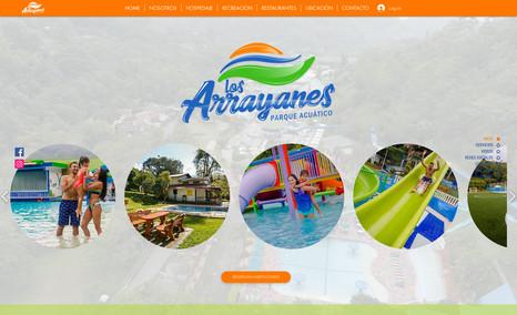Los Arrayanes Sistema de reserva online, rediseño de marca y map...