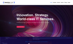 SourceCode Technology Branding, Website Redesign, Logo Design, Digital M...