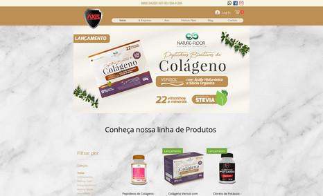 Axis Nutrition Criação de portal ecommerce total, integração de s...