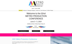 Metro Production Conference A conference website that informs visitors about l...