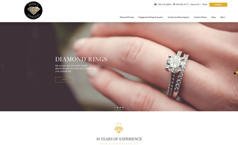 RoyalT Jewelers Complete design of a new website for RoyalT Jewele...