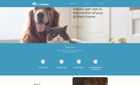 Vet in the House A clean and simple website attracts potential clie...