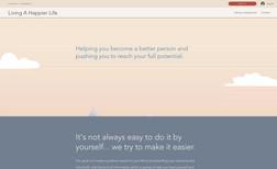 "livingahappierlife Website for ""Living a Happier Life"" brand."