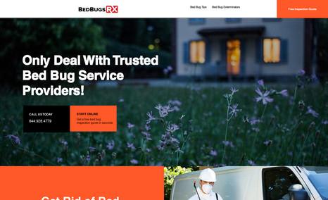 Bedbugs beware! A web portal for bedbugs extermination service!