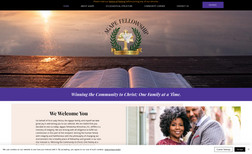 agapefellowship A vibrant, modern and informative church website.