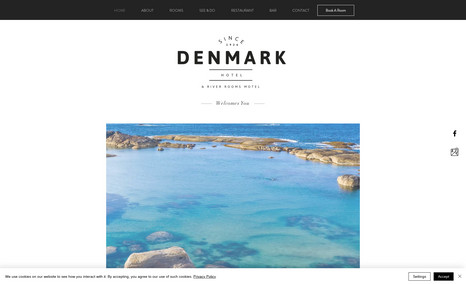 Denmark Hotel & River Rooms Motel Website Design, Logo Design, Booking Services.