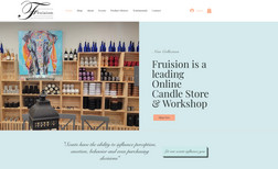 FRUISION CANDLES An eCommerce website that sells home made candles.