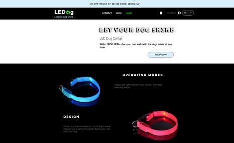 חנות אונליין | LEDog קולרי לד לכלבים אתר סחר- שיפוץ תבנית ללא שימוש בתבנית חדשה, על מנת...