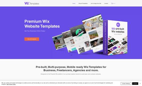 WX Templates Premium Multi-purpose Wix Templates for Business, ...