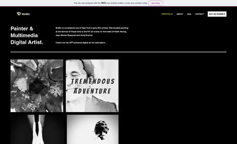 MoMo Digital Arts NFT Artist Website