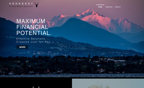 Hennessy Private Wealth Redesign of site for Private Wealth Consulting in ...