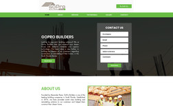 go-pro-builders Advanced website for leading construction company ...