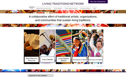 Living Traditions Music and Arts Web design and training